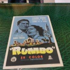 Folhetos de mão de filmes antigos de cinema: PROGRAMA DE MANO ORIG - RUMBO - SIN CINE IMPRESO AL DORSO. Lote 221429007