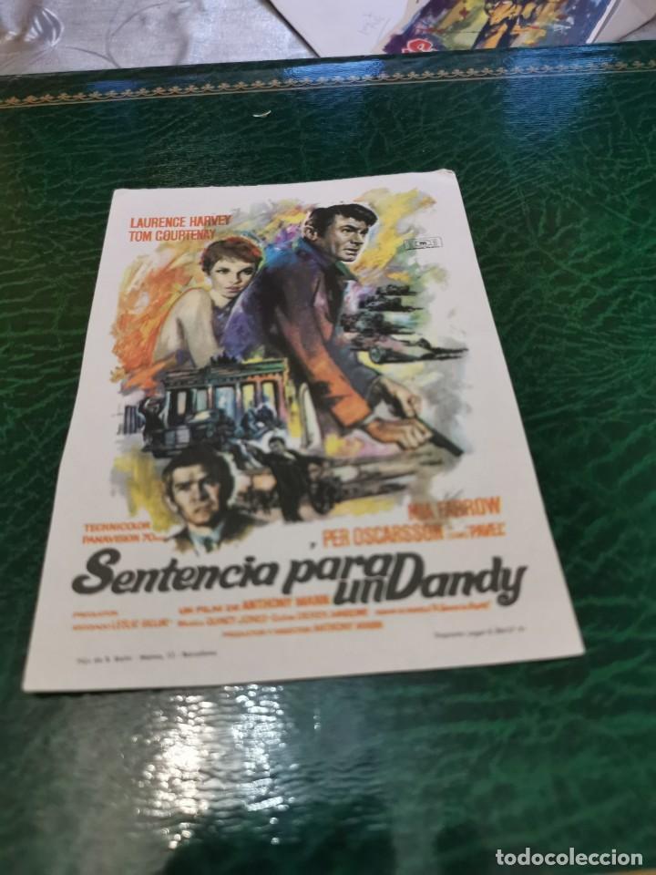 PROGRAMA DE MANO ORIG - SENTENCIA PARA UN DANDY - SIN CINE IMPRESO DORSO (Cine - Folletos de Mano - Acción)