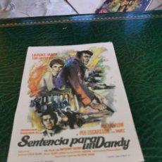 Cine: PROGRAMA DE MANO ORIG - SENTENCIA PARA UN DANDY - SIN CINE IMPRESO DORSO. Lote 221445763