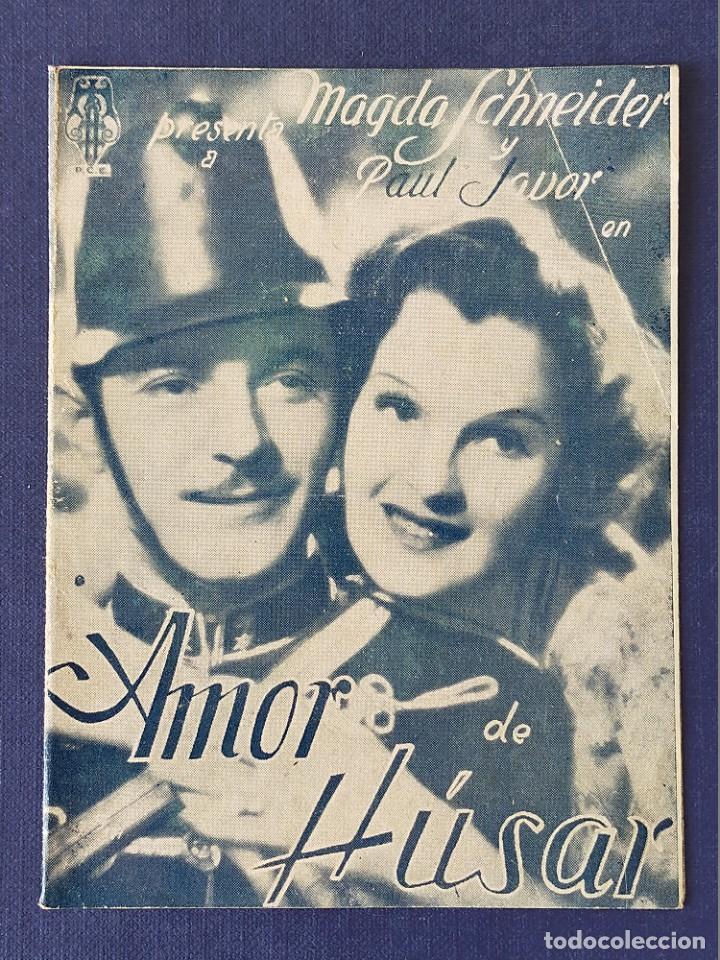 PROGRAMA DE CINE: AMOR DE HUSAR. MAGDA SCHNEIDER, PAUL JAVOR - DOBLE CINE GADES 1939 (Cine - Folletos de Mano - Clásico Español)