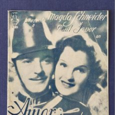 Cine: PROGRAMA DE CINE: AMOR DE HUSAR. MAGDA SCHNEIDER, PAUL JAVOR - DOBLE CINE GADES 1939. Lote 221497413