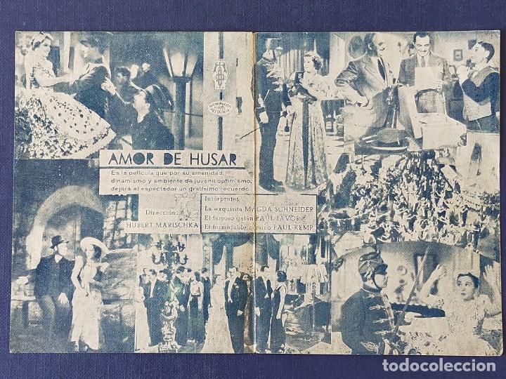 Cine: PROGRAMA DE CINE: AMOR DE HUSAR. MAGDA SCHNEIDER, PAUL JAVOR - DOBLE CINE GADES 1939 - Foto 2 - 221497413