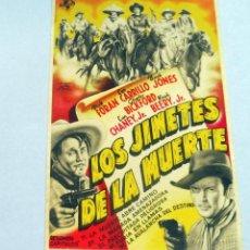 Flyers Publicitaires de films Anciens: PROGRAMA DE CINE - LOS JINETES DE LA MUERTE - S/P. Lote 221531883