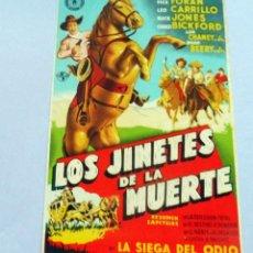 Flyers Publicitaires de films Anciens: PROGRAMA DE CINE - LOS JINETES DE LA MUERTE - S/P. Lote 221531907