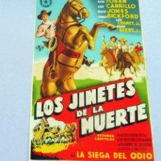 Cine: PROGRAMA DE CINE - LOS JINETES DE LA MUERTE - S/P. Lote 221531961