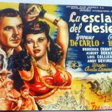 Cine: PROGRAMA DE CINE - LA ESCLAVA DEL DESIERTO - TEATRO BENAVENTE. Lote 221535100