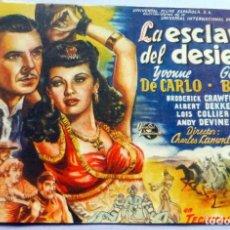 Cine: PROGRAMA DE CINE - LA ESCLAVA DEL DESIERTO - CINEMA ESPAÑA. Lote 221535145