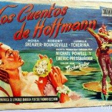Cine: PROGRAMA DE CINE - LOS CUENTOS DE HOFFMANN - CINE CORDON. Lote 221535488