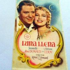Cine: PROGRAMA DE CINE - LUNA LLENA - PLAZA DE TOROS. Lote 221537647