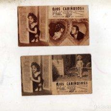Cine: PROGRAMAS ( 2 ) OJOS CARIÑOSOS CON SHIRLY TEMPLE, AÑO 1935. Lote 221543577