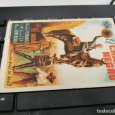 Cine: PROGRAMA DE MANO ORIG - EL CHARRO NEGRO - CON CINE DE SEVILLA IMPRESO DORSO. Lote 221560856