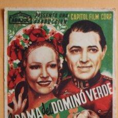 Cine: LA DAMA DEL DOMINÓ VERDE, JUNE KNIGHT, ARAJOL. Lote 221561771