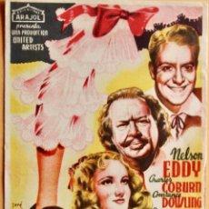 Cine: PIERNA DE PLATA - NELSON EDDY, CHARLES COBURN, CARMEN MIRANDA - ARAJOL. Lote 221561907