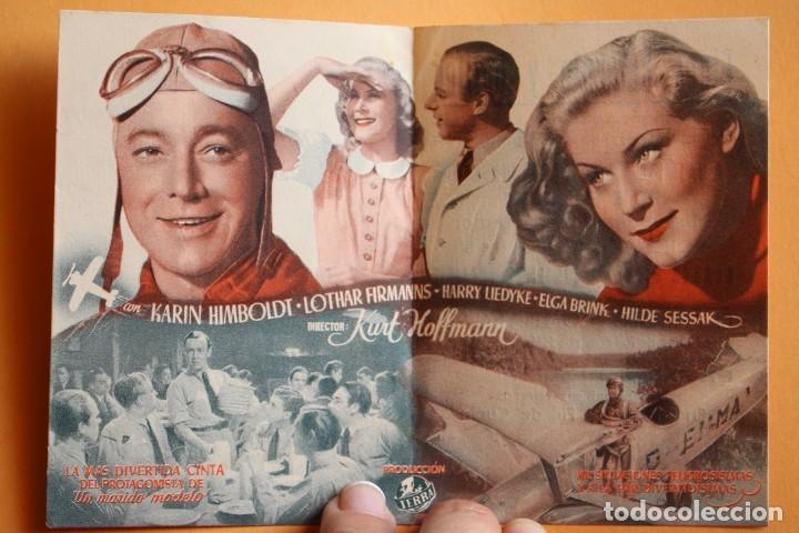Cine: FOLLETO DE CINE CON PUBLICIDAD - CINE ECHEGARAY - QUAX PILOTO ROMPETECHOS 1944 - Foto 2 - 221562291