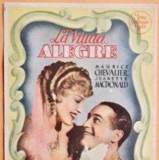 Cine: LA VIUDA ALEGRE - MAURICE CHEVALIER - JEANETTE MACDONALD-1934. Lote 221562590