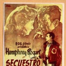 Cine: SECUESTRO, CON HUMPHREY BOGART.. Lote 221566775