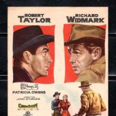 Cine: PROGRAMA DE CINE DESAFIO EN LA CIUDAD MUERTA.ROBERT TAYLOR/RICHARD WIDMARK. Lote 221573567
