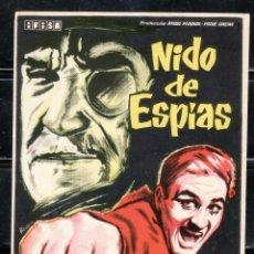 Cine: PROGRAMA DE CINE NIDO DE ESPIAS ROGER HANIN / CHARLES VANEL. B. Lote 221576443