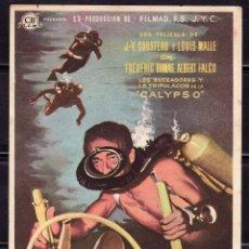 Cine: PROGRAMA DE CINE EL MUNDO DEL SILENCIO J-T. COUSTEAU LOUIS MALLE. B. Lote 221578431
