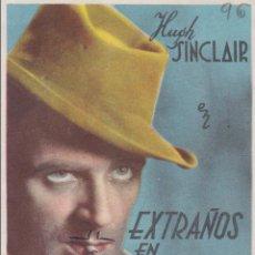 Cine: PROGRAMA DE CINE – EXTRAÑOS EN LUNA DE MIEL – HUGH SINCLAIR – S/P. Lote 221601130