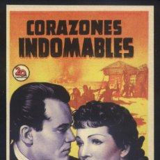 Cine: P-5415- CORAZONES INDOMABLES (DRUMS ALONG THE MOHAWK) (SOLIGÓ) CLAUDETTE COLBERT - HENRY FONDA. Lote 221601800
