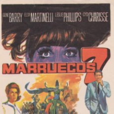 Cine: PROGRAMA DE CINE – MARRUECOS 7 – GENE BARRY - 1967 – S/P. Lote 221602173