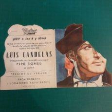 Cine: LUGO IMPRENTA PALACIOS CINE CENTRAL LUIS CANDELAS. Lote 221602470
