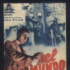 Cine: P-8936- EL MUNDO TEMBLARA (LE MONDE TREMBLERA) (DOBLE) (TEATRO AROSA - VILLAGARCIA) CLAUDE DAUPHIN. Lote 221602990