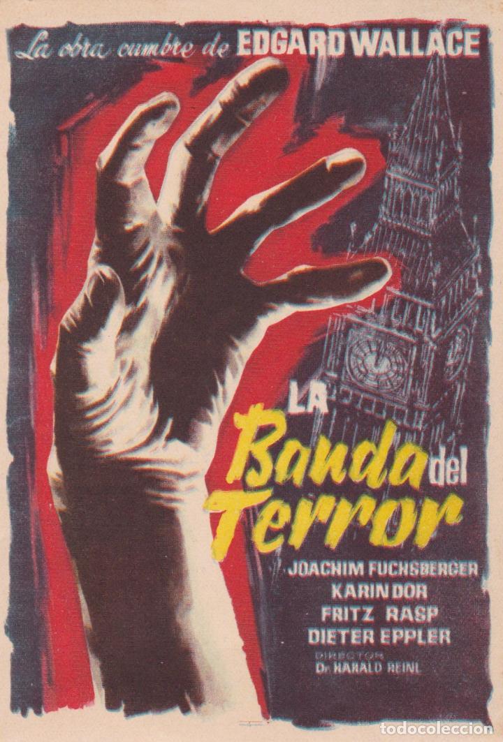 PROGRAMA DE CINE – LA BANDA DEL TERROR – KARIN DOR – S/P (Cine - Folletos de Mano - Terror)