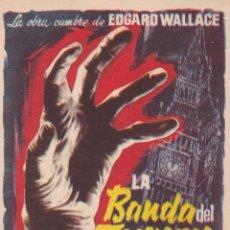 Cine: PROGRAMA DE CINE – LA BANDA DEL TERROR – KARIN DOR – S/P. Lote 221603480