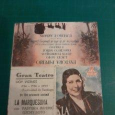 Cine: LUGO GRAN TEATRO LA MARQUESINA PASTORA IMPERIO LIBRERIA COLISEVM LUGO. Lote 221603566