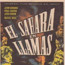 Cine: PROGRAMA DE CINE – EN SAHARA EN LLAMAS – JEAN SERVAIS – S/P. Lote 221603801