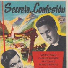 Cine: PROGRAMA DE CINE – SECRETO DE CONFENSIÓN – MARGIT SAAD – S/P. Lote 221604428