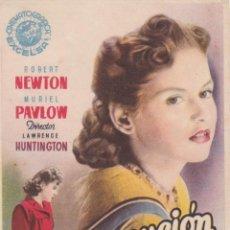 Cine: PROGRAMA DE CINE – PERSECUCIÓN – ROBERT NEWTON – S/P. Lote 221605001