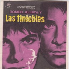 Cine: PROGRAMA DE CINE – ROMEO, JULIETA Y LAS TINIEBLAS – IVAN MISTRIK – MAC - 1961 – S/P. Lote 221605308