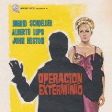 Cine: PROGRAMA DE CINE – OPERACIÓN EXTERMINIO – ALBERTO LUPO – S/P. Lote 221605436