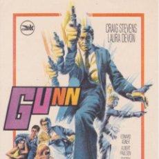 Cine: PROGRAMA DE CINE – GUNN – CRAIG STEVENS – 1967 - S/P. Lote 221605582