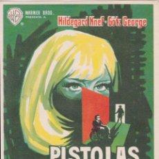 Cine: PROGRAMA DE CINE – PISTOLAS SECRETAS – HILDEGARD KNEF – 1965 – S/P. Lote 221605820