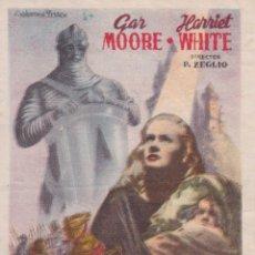 Cine: PROGRAMA DE CINE – GENOVEVA DE BRABANTE – HARRIET WHITE – TIVOLI – 1947. Lote 221606568