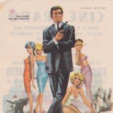 Cine: PROGRAMA DE CINE – DEMASIADAS MUJERES PARA LAYTON – ROGER HANIN – CINE PRADO – 1967. Lote 221606867