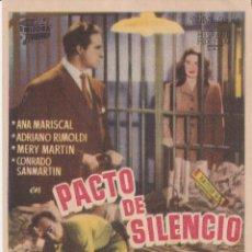 Cine: PROGRAMA DE CINE – PACTO DE SILENCIO – ANA MARISCAL – CENTRO ARTESANO. Lote 221609887