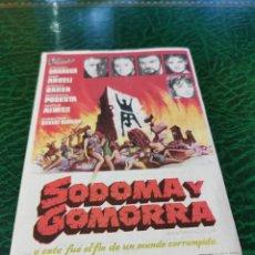 Cine: PROGRAMA DE MANO ORIG - SODOMA Y GOMORRA - CON CINEMA VICTORIA IMPRESO DORSO. Lote 221612717