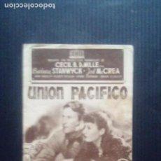 Cine: UNION PACIFICO: PROGRAMA DOBLE. AÑO 1945. Lote 221679922