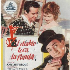 Cine: PN - PROGRAMA DOBLE - EL DIABLO TOCA LA FLAUTA - JOSE LUIS OZORES - PLAZA DE TOROS (MÁLAGA) - 1955.. Lote 221700977