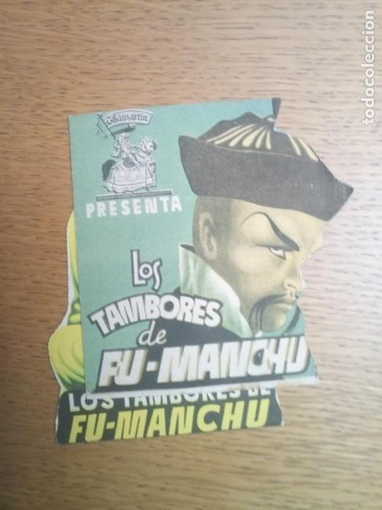 FOLLETO DE MANO, PROGRAMA DE CINE, LOS TAMBORES FU MANCHÚ LOTE DE DOS (Cine - Folletos de Mano - Comedia)