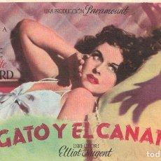 Cine: PN - PROGRAMA DE CINE - EL GATO Y EL CANARIO - BOB HOPE, PAULETTE GODDARD - ALIATAR CINEMA (GRANADA). Lote 221712351
