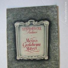 Cine: WINDSOR PALACE Y METRO GOLDWYN MAYER-CATALOGO PUBLICIDAD PROGRAMAS DE CINE-VER FOTOS-(K-729). Lote 221724311