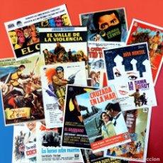Cine: FOLLETO CARTEL DE MANO DE CINE - LOTE DE 17 CARTELES ORIGINALES - AÑOS 60 - TAMAÑO POSTAL. Lote 221772882