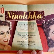 Cine: NINOTCHKA - GRETA GARBO, MELVYN DOUGLAS - PROGRAMA TROQUELADO- ESTRENO CINEMA IDEAL OLOT 1941. Lote 221773235
