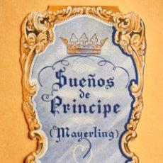 Cine: SUEÑOS DE PRINCIPE (MAYERLING). PROGRAMA DE MANO TROQUELADO. Lote 221782843